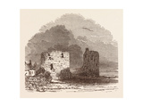 Remains of Flint Castle, Located in Flint, Flintshire, UK Giclee Print