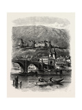 Heidelberg, from the River, the Rhine, Germany, 19th Century Giclee Print