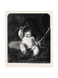 Infant Hercules, from the Picture by Sir Joshua Reynolds Wydruk giclee