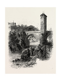 The Bridge of Orthez, the Pyrenees, France, 19th Century Giclee Print