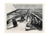 The Anglo-American Yacht-Race, on Board the Cambria, 1870 Giclee Print