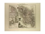 Map of Martinique French Guiana and Terra Nova 1896 Giclee Print