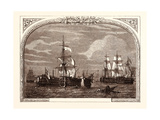 Admiral Hotham's Action Off Cape Corse, March 14th, 1795 Giclee Print