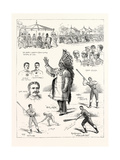 The Canadian Game of La Crosse, Played at Hurlingham, 1883 Giclee Print