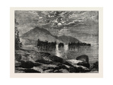 View on Lake George, North America, USA, 1870s Giclee Print