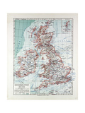 Map of Great Britain and Ireland 1899 Giclee Print