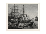 View of the Port of Calcutta, India Giclee Print