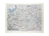 Map of Poland Belarus and Ukraine 1899 Giclee Print