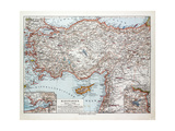 Map of Turkey Cyprus and Syria 1899 Giclee Print