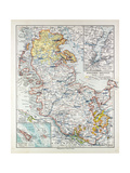 Map of Schleswig-Holstein Germany 1899 Giclee Print
