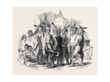 Iowa Indians, at the Egyptian Hall, Piccadilly Giclee Print