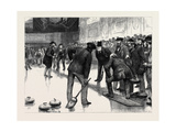 Curling at an Ice Rink, Manchester Giclee Print