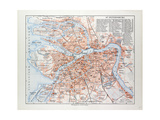 Map of St. Petersburg Russia, 1899 Giclee Print