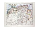 Map of Algeria Morocco and Tunisia 1899 Giclée-Druck
