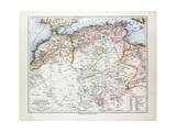 Map of Algeria Morocco and Tunisia 1899 Giclee Print