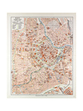 Map of the Centre of Vienna Austria 1899 Giclee Print
