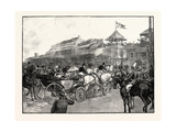 Ascot Races: Arrival of the Royal Party Giclee Print