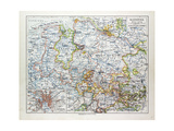 Map of Hannover Germany 1899 Giclee Print