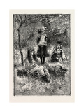 Gathering the Dandelions, 1882 Giclee Print