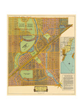 Map of South Coral Gables, 1926 Giclee Print