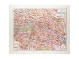 Map of Berlin Germany 1899 Giclee Print