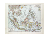 Map of Indonesia 1899 Giclee Print