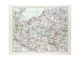 Map of Mecklenburg Germany 1899 Giclee Print
