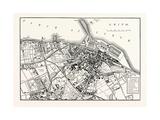 Edinburgh: Plan of Leith 1883 Giclee Print