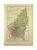 Map of Ardêche France Giclee Print