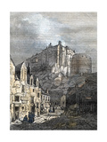Edinburgh Castle Scotland 1833 Giclee Print