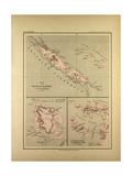 Map of New Caledonia Giclee Print