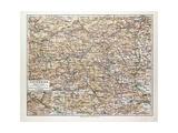 Map of Steiermark Austria 1899 Giclee Print