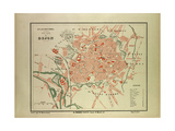 Map of Dijon France Giclee Print