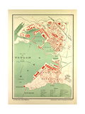 Map of Toulon France Giclee Print