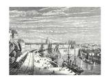 A Railway in Nantes - Giclee Baskı