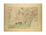 Map of Marseille, France Giclee Print