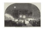 Fireworks at Birr Castle, Parsonstown, the Seat of the Earl of Rosse Giclee Print