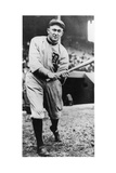 Ty Cobb, Star of the Detroit Tigers, Batting in 1910 Giclee Print