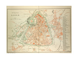Map of Lille Giclee Print