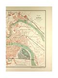 Map of Lyon Giclee Print