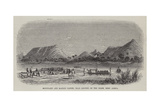 Mountains and Market Canoes, Near Bokweh on the Niger, West Africa Giclée-tryk