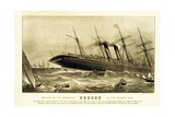 Sinking of the Steamship Oregon of the Cunard Line, Pub. C.1886 Giclee Print