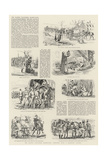 The Easter Volunteer Manoeuvres, Sketches with a Marching Column Giclee Print
