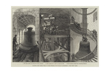 Rising the Great Bell in the Tower of St Paul's Cathedral Giclee Print