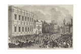 Opening of Parliament, the Royal Procession Passing Whitehall Giclee Print