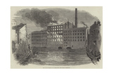 Fire and Explosion at Marsland's Park Mills, Stockport Giclee Print