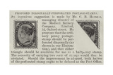 Proposed Diagonally-Perforated Postage-Stamps Giclee Print