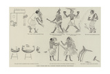 Comic Frieze from Mr Flinders Petrie's Egyptian Discoveries Giclee Print