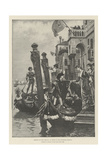 Morning of the Carnival at Venice in the Fifteenth Century Giclee Print