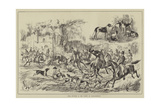 Stag Hunting in the Forest of Fontainebleau Giclee Print
